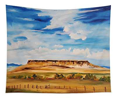 Ulm Montana First People's Buffalo Jump   93 Tapestry