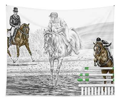 Ultimate Challenge - Horse Eventing Print Color Tinted Tapestry