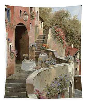 Un Caffe Al Fresco Sulla Salita Tapestry