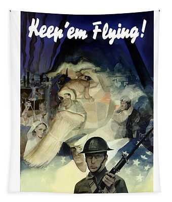 Keep 'em Flying - Uncle Sam  Tapestry