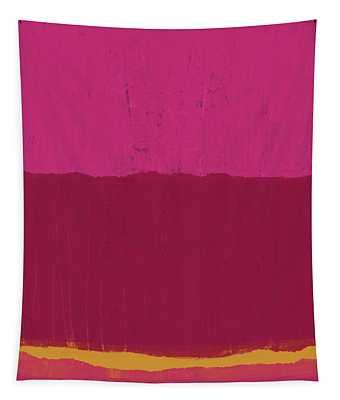 Undaunted Pink 2- Art By Linda Woods Tapestry