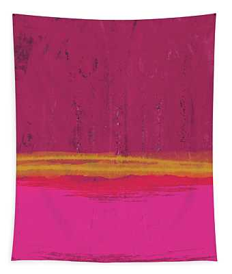 Undaunted Pink Abstract- Art By Linda Woods Tapestry