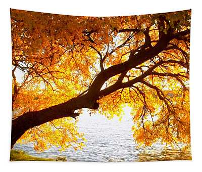 Under The Yellow Tree Tapestry