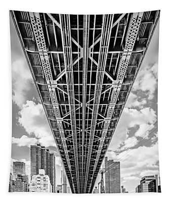 Tapestry featuring the photograph Underneath The Queensboro Bridge by Susan Candelario