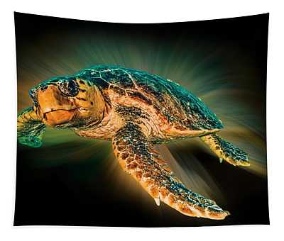 Undersea Turtle Tapestry
