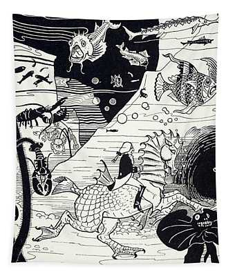 Underwater Scene From The Surprising Adventures Of Baron Munchausen Tapestry