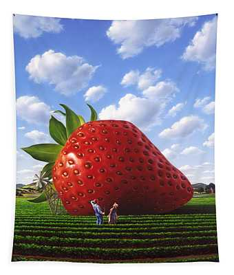 Strawberry Wall Tapestries