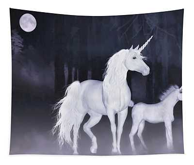 Unicorns In The Mist Tapestry