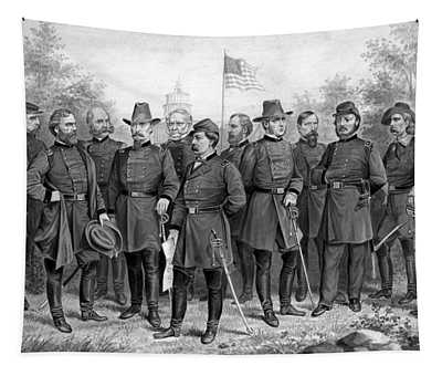 Union Generals Of The Civil War  Tapestry