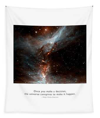 Universe Conspires When You Decide Tapestry