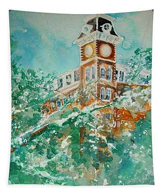 Ice On Old Main 1 Tapestry