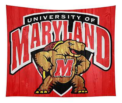 University Of Maryland Barn Door Tapestry