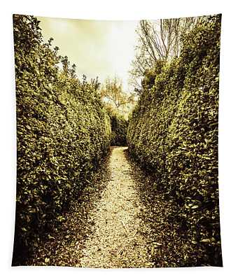 Up The Garden Path Tapestry