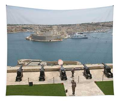 Tapestry featuring the photograph Upper Barrakka Saluting Battery by Travel Pics