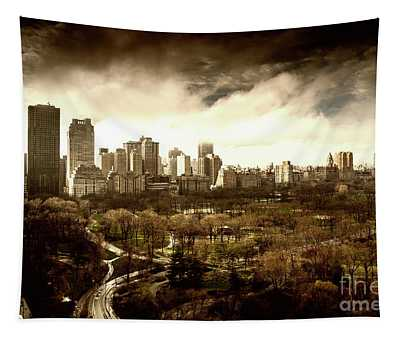 Upper West Side Of New York In Spring Tapestry