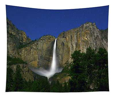 Upper Yosemite Falls Under The Stairs Tapestry