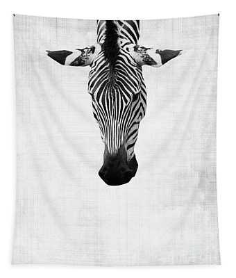 Upside Down Zebra Tapestry