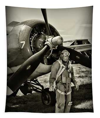 Us Army Air Force Pilot Tapestry