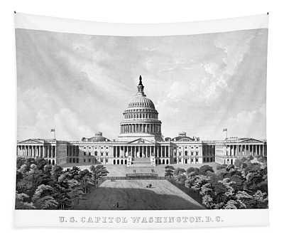 Us Capitol Building - Washington Dc Tapestry