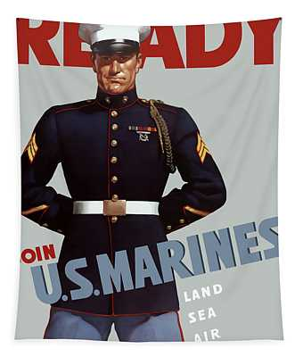 Us Marines - Ready Tapestry