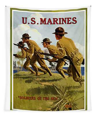 Us Marines - Soldiers Of The Sea Tapestry