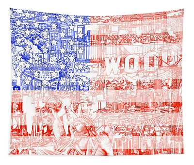 Usa Flag 1 Tapestry