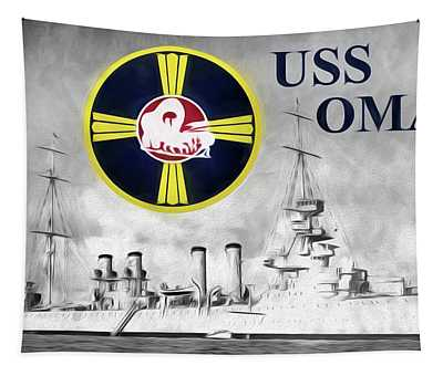 Uss Omaha Tapestry by JC Findley