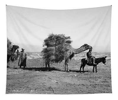 Uzbekistan: Caravan, C1910 Tapestry