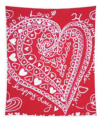 Valentine Heart Tapestry