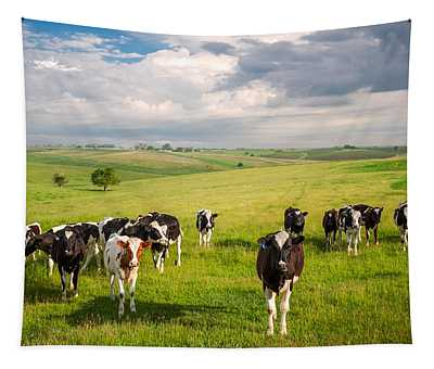 Valley Of The Cows Tapestry