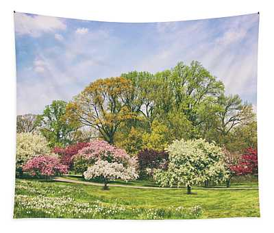 Valley Of The Daffodils Tapestry
