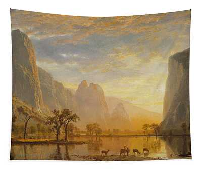 Valley Of The Yosemite, 1864 Tapestry