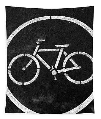 Vancouver Bike Lane- Art By Linda Woods Tapestry