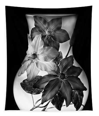 Vase In Monochrome Tapestry