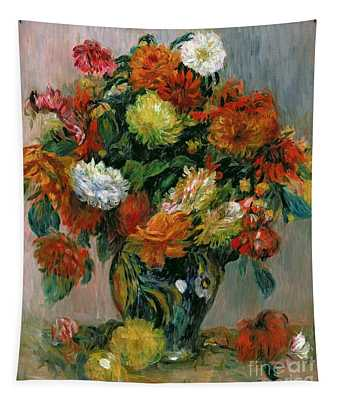 Vase Of Flowers Tapestry