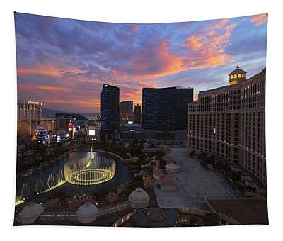 Vegas By Night Tapestry