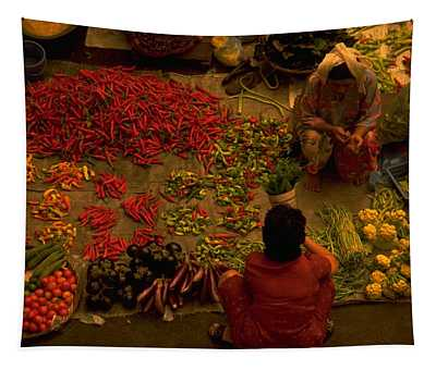Vegetable Market In Malaysia Tapestry