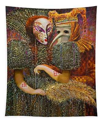 Venetian Masks Tapestry