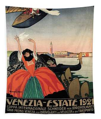 Venezia Estate 1921 - Coppa Del Re - Venice, Italy - Retro Travel Poster - Vintage Poster Tapestry
