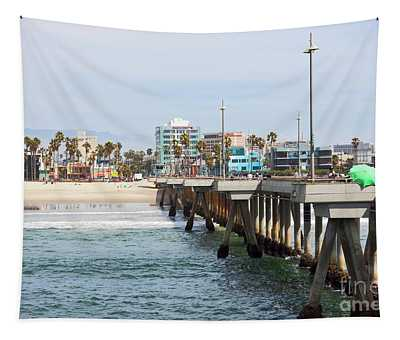 Venice Beach From The Pier Tapestry