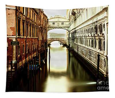 Tapestry featuring the photograph Venice Bridge Of Sighs by Miles Whittingham