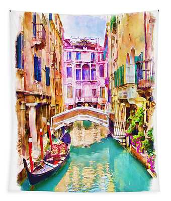 Venice Canal 2 Tapestry