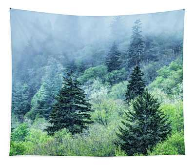 Verdant Forest In The Great Smoky Mountains Tapestry