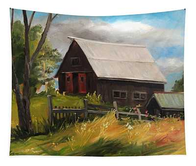 Vermont Barn Tapestry