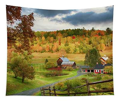 Vermont Sleepy Hollow In Fall Foliage Tapestry