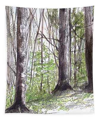 Vermont Woods Tapestry