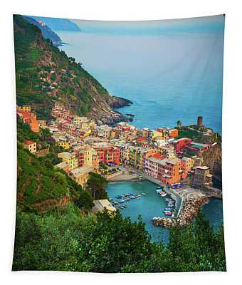Vernazza From Above Tapestry