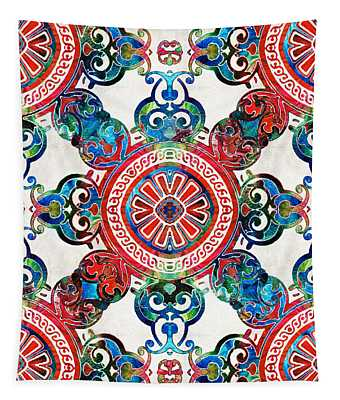 Vibrant Pattern Art - Color Fusion Design 4 By Sharon Cummings Tapestry