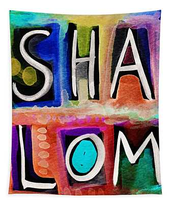 Vibrant Shalom- Art By Linda Woods Tapestry
