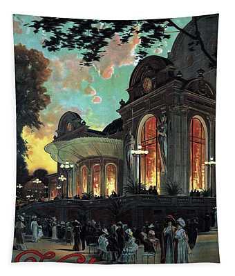 Vichy, France - Billets A Prix Reduits - Retro Travel Poster - Vintage Poster Tapestry